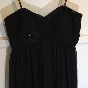 Maggy London Black Strapless Gown Sz6